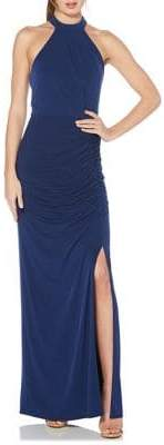 Laundry by Shelli Segal Side Ruched Sleeveless Gown