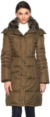 London Fog Towne By Women's Towne by Hooded Down Puffer Jacket