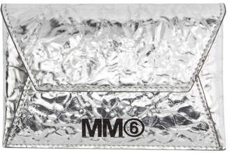MM6 MAISON MARGIELA Silver Crinkled Card Holder