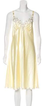 Oscar de la Renta Lace-Trimmed Slip Dress
