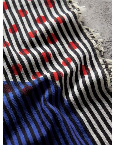 burberry ein schal aus baumwollseide mit punkt und streifenmuster damen. Black Bedroom Furniture Sets. Home Design Ideas