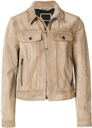 Diesel Black Gold Lavenere casual collared jacket with front pockets