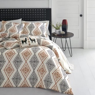 Azalea Azaela Skye Skye Cusco Rhombus Medium Beige Duvet Cover Set, Full/Queen