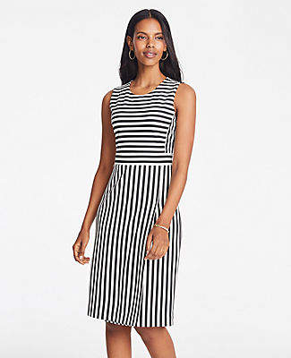Ann Taylor Striped Knit Sheath Dress