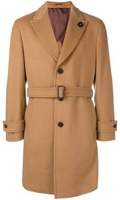 Lardini belted single-breasted coat