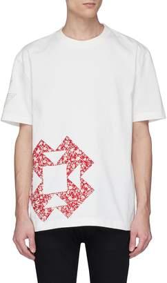 Calvin Klein Floral geometric appliqué T-shirt