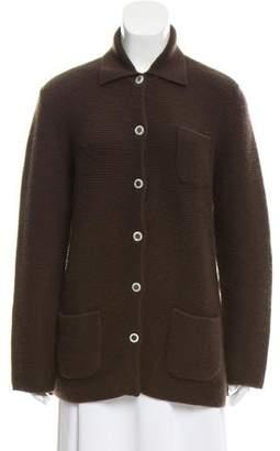 Salvatore Ferragamo Button-Up Cashmere Cardigan