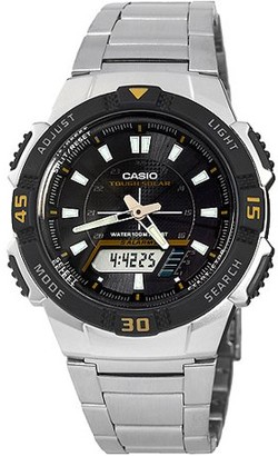 Casio Men's Slim Solar-Powered Watch, Stainless Steel