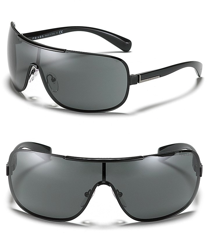 Prada Metal Shield Wrap Sunglasses