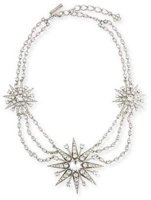 Oscar de la Renta Crystal Star Statement Necklace