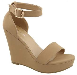 Top Moda Beryl Platform Wedge Sandal