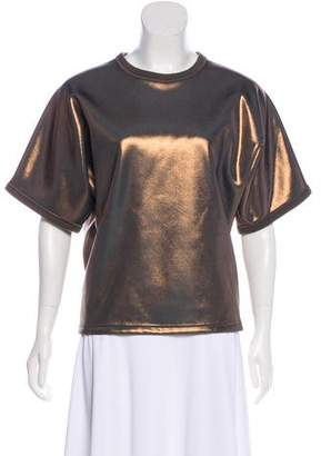 Balenciaga Metallic Oversize Top