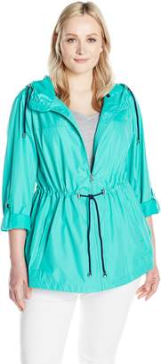 Details Women's Plus Size Lightweight Packable Anorak Parka in a Pocket