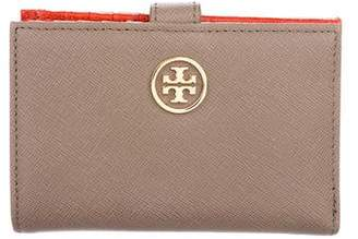 Tory Burch Leather Robinson Compact Wallet