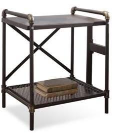 Sleep Design Oxford Industrial Scaffold Pipe Rustic Antiqued Metal Bedside Table
