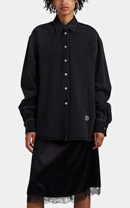 MM6 MAISON MARGIELA Women's Denim & Silky Twill Layered Dress - Black