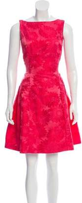 Carmen Marc Valvo Sleeveless Embroidered Dress Sleeveless Embroidered Dress