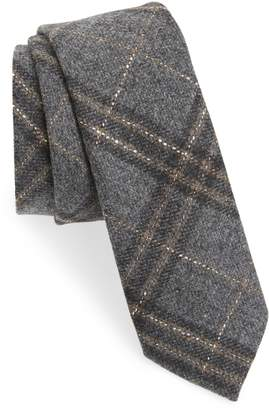 The Tie Bar Sotto Plaid Wool Blend Tie
