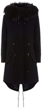 Moschino Embellished Teddy Parka Coat