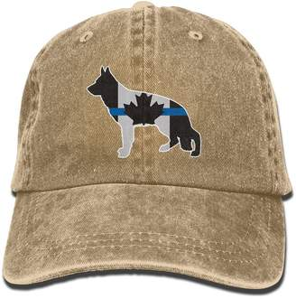 186f2d67b4843a PINE-TREE-CAP Thin Blue Line Canada Flag Police Dog Dad Hat Baseball Cap