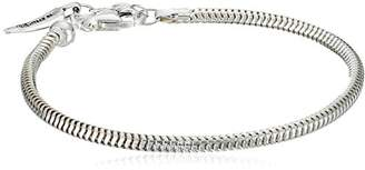 Sterling Silver Adjustable Solid Snake Ladies Bracelet