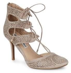 Joslyn Lasercut Lace-Up Heels