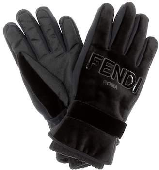 Fendi Velvet gloves