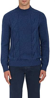 Barneys New York MEN'S CASHMERE MOCK-TURTLENECK SWEATER