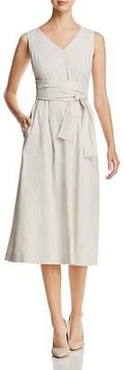 Lafayette 148 New York Aileen Striped Tie-Waist Midi Dress - 100% Exclusive