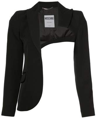 Moschino cut out fitted jacket