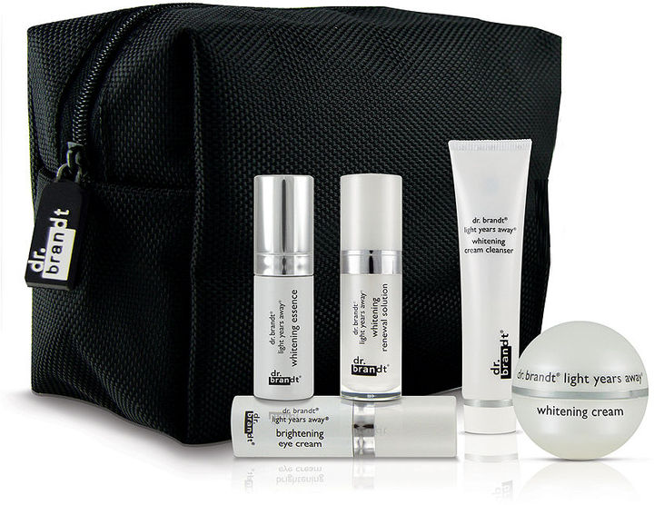 Dr. Brandt Skincare Light Years Away whitening travel size mini's in black cosmetic bag ($119 value) 1 ea