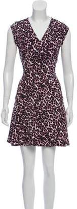 Rebecca Taylor Animal Print A-Line Dress