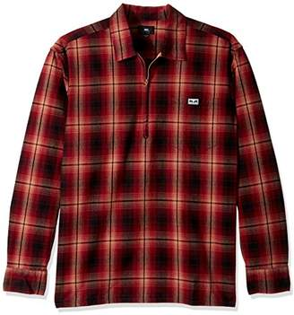 Obey Men's Loose Regular Fit Pullover Woven Long Sleeve