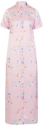 Sophie Cameron Davies - Silk Maxi Dress Pink Beach Flower
