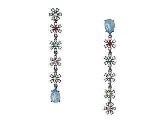 Betsey Johnson Daisy Non-Matching Linear Earrings
