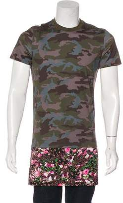 Givenchy Camo & Floral Print T-Shirt