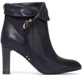 See by Chloe Masha Brushed-leather Ankle Boots
