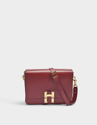 Sophie Hulme The Quick Large Bag in Fire Brick Cow Leather