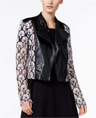 Yyigal Lace Faux-Leather Moto Jacket, a Macy's Exclusive Style $199 thestylecure.com