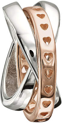 Chamilia sterling silver & rose gold-plated rings bead