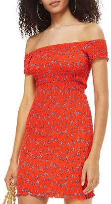 Topshop Shirred Ditsy Bodycon Dress