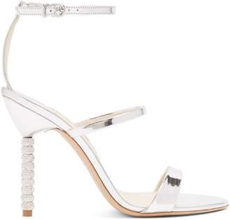 Sophia Webster Rosalind crystal embellished-heel leather sandals