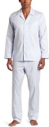 Majestic International Men's Basic Herringbone Long Sleeve Pajama