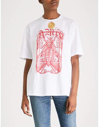 Alexander McQueen Insect-print cotton-jersey T-shirt