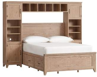 Pottery Barn Teen Hton Storage Bed Super Set 2.0, Twin, Smoked Gray
