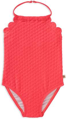 Kate Spade Girls' Scalloped Textured Swimsuit