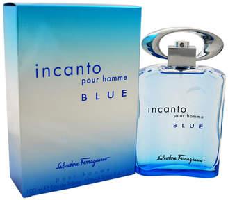 Salvatore Ferragamo Incanto Blue Men's 3.4Oz Eau De Toilette Spray