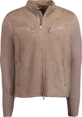Eleventy Shearling Motor Jacket