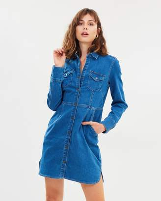 Free People Dynamite Denim Mini Dress