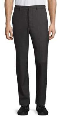 Ami Flat-Front Wool & Cotton Pants